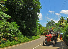 Tractor in the jungle - Tangalla (Sri Lanka) Royalty Free Stock Images