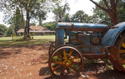 Tractor and Karen Blixen's house, Kenya. Royalty Free Stock Image