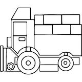 Tractor kids geometrical figures coloring page Royalty Free Stock Photos
