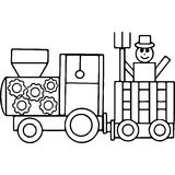 Tractor kids geometrical figures coloring page Royalty Free Stock Image