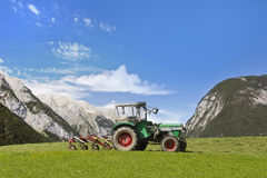 Tractor on a lawn Royalty Free Stock Image