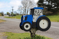 Tractor Letterbox. Great New Zealand country artwork Royalty Free Stock Images