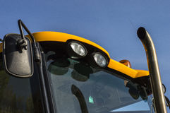 Tractor lights for the safety of halogen light movement Stock Photos