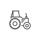 Tractor line icon, outline vector sign, linear style pictogram isolated on white. Symbol, logo illustration. Editable stroke. Royalty Free Stock Photos