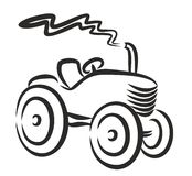 Tractor Logo. Royalty Free Stock Photography