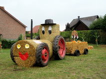 A hand-made tractor. Ideas for village holiday Royalty Free Stock Photography