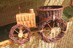 Tractor made from twigs Stock Images