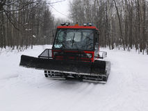Tractor make ski-track Stock Images