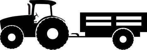 Tractor met aanhangwagen Stock Afbeelding