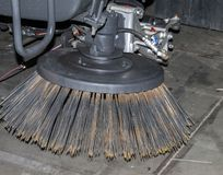 Metal brush nozzle. Tractor metal brush nozzle for cleaning streets Stock Photography
