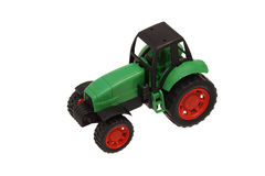 Tractor model. Children's toy. Black and green Royalty Free Stock Images
