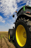 Tractor - modern agriculture equipment. Tractor on the farm - modern agriculture equipment in field royalty free stock image