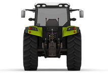Tractor. Modern green tractor rendered on white background Stock Images