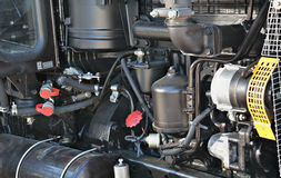 Tractor motor. Diesel motor of an agricultural tractor close up Royalty Free Stock Photo