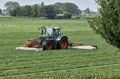 Tractor with mower combination Royalty Free Stock Image