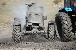 Tractor mud racing Royalty Free Stock Photo