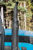 Tractor muffler Royalty Free Stock Image