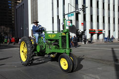 Tractor in National Western Stock Show Parade Royalty Free Stock Photography