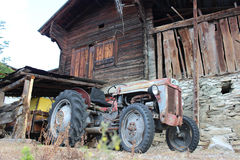Tractor. Old Tractor abandoned in farm royalty free stock image