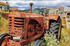 Tractor, Old, Antique, Abandoned Royalty Free Stock Photo