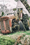 Tractor. An old rundown tractor in nature Stock Image