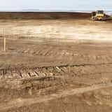 Tractor op bouwterrein Royalty-vrije Stock Afbeelding