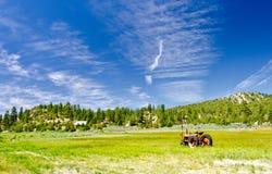 Tractor op een Gebied in Utah Royalty-vrije Stock Foto