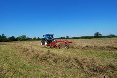 Tractor op gebied Royalty-vrije Stock Foto's