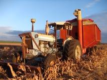 Tractor op gebied, Queensland Australië Stock Foto's