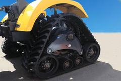 Tractor outside with rubber crampons Royalty Free Stock Photo