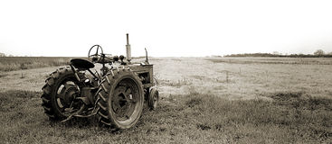 Tractor - Panoramic Royalty Free Stock Photography