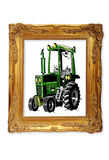 Tractor in picture frame Stock Photography