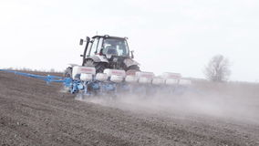 Tractor with planter stock video