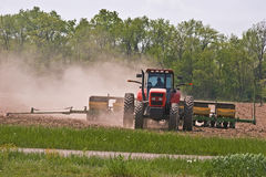 Tractor Planting Corn Royalty Free Stock Image