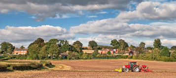 Tractor Planting Seeds Stock Image