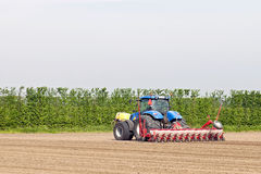 Tractor and plough Stock Photography
