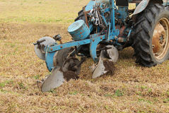 Tractor and Plough. Stock Photos