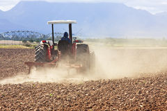 Tractor ploughing Royalty Free Stock Photography