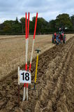 Tractor ploughing match. Stock Image