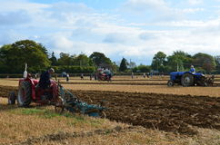 Tractor ploughing match. Royalty Free Stock Photography