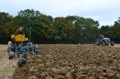 Tractor ploughing match. Royalty Free Stock Photo