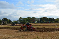 Tractor ploughing match. Stock Photo