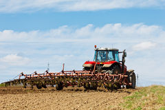 Tractor and Plow royalty free stock images