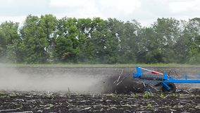 Tractor plow land. stock footage