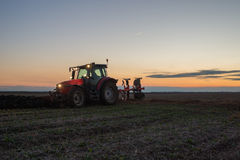 Tractor Plowing Royalty Free Stock Photography