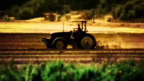 Tractor Plowing Farm stock footage