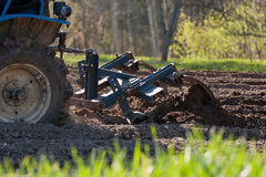 Tractor plowing field Royalty Free Stock Photography