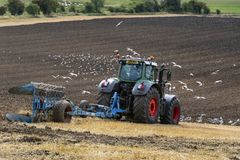 Agriculture - Farming - Plowing a field - UK Stock Photography