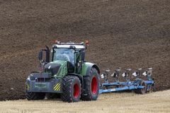 Agriculture - Farming - Plowing a field Royalty Free Stock Photos