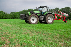 Tractor with plows Royalty Free Stock Photos